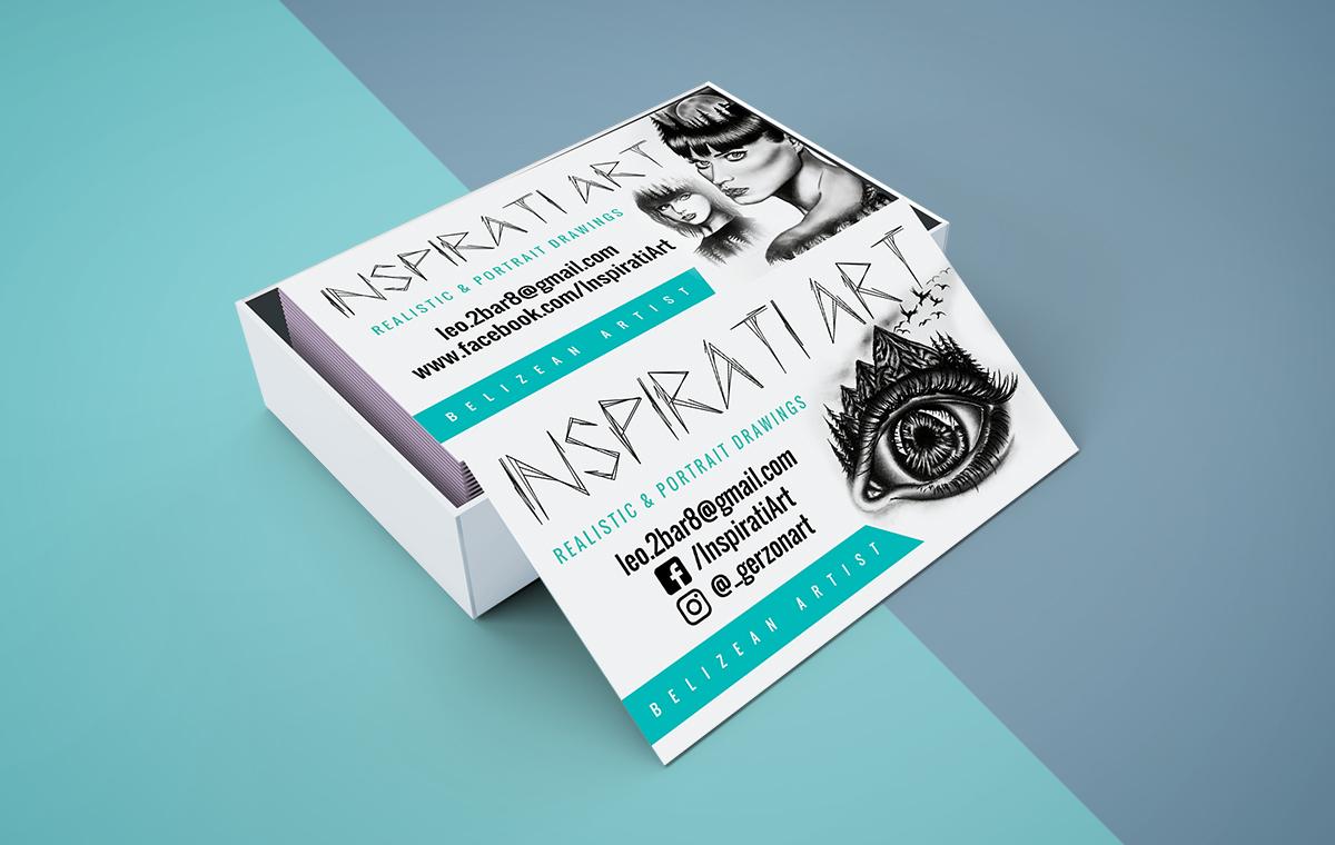 Inspirati Art Business Cards design portfolio item