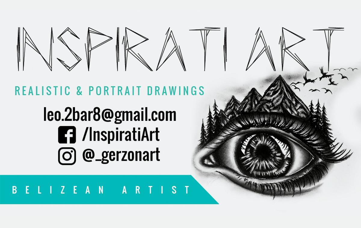 Inspirati Art Business Cards design portfolio item one