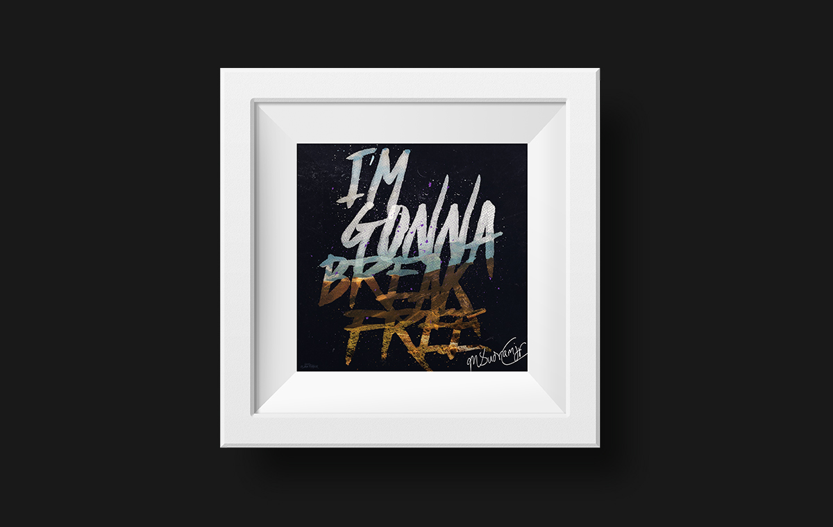 I'm Gonna Break Free Framed Art portfolio item