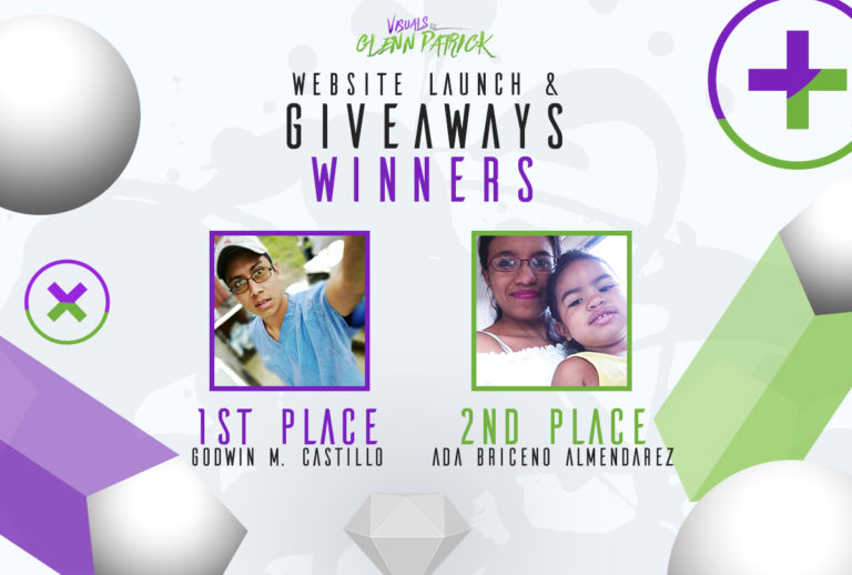 WINNERS for Visuals by Glenn Patrick Website Launch GIVEAWAYS!