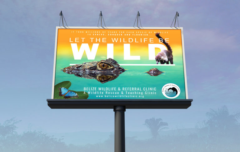 Belize Wildlife and Referral Clinic (BWRC) Let The Wild Be Wild Sign