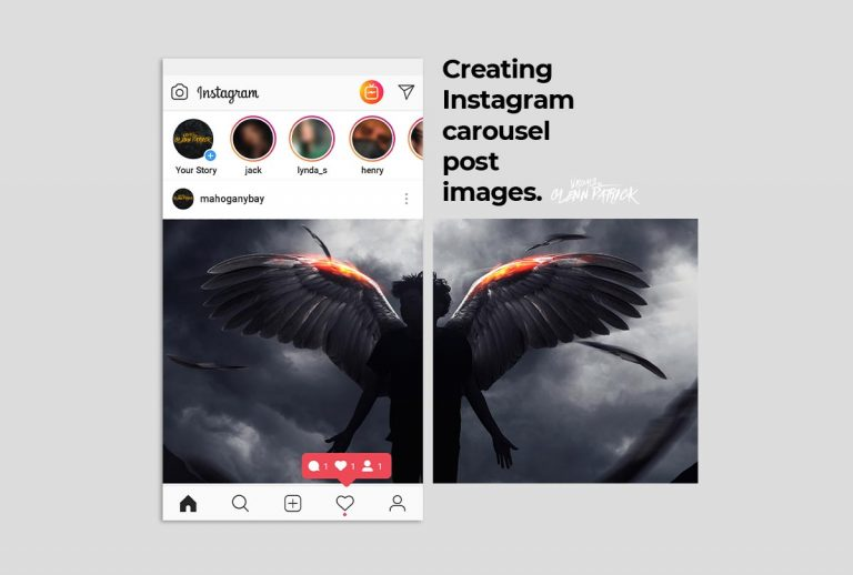 Making a Seamless Carousel Post on Instagram - Part one