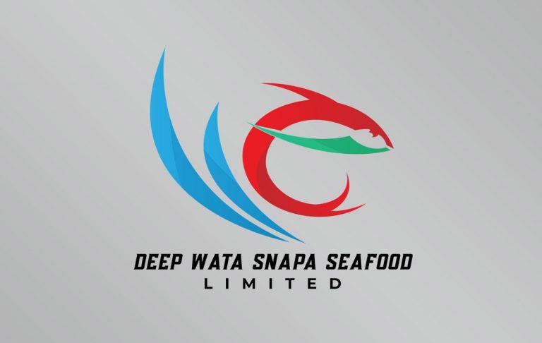 Deep Wata Snapa SeaFood Logo and Branding