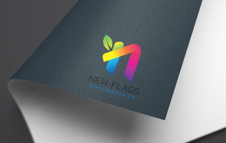 New Flags Supermarket Logo and Extra Design