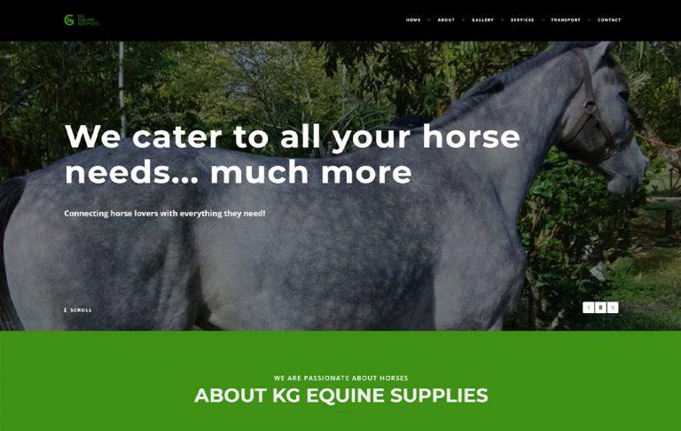 KG Equine Supplies Website