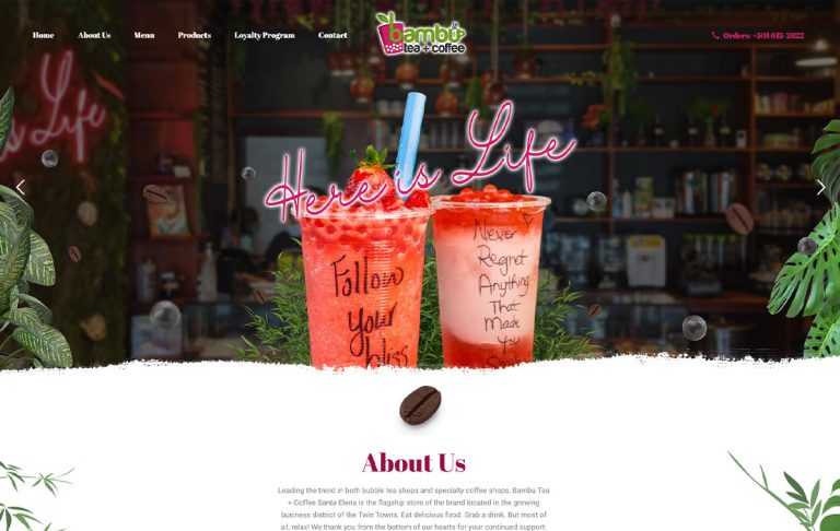 Bambu Tea + Coffee Website